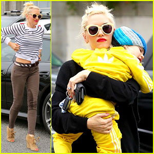 Gwen Stefani: Stripes at the Studio!