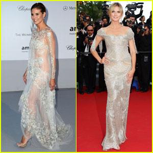 Heidi Klum - amfAR Cannes Gala 2012