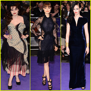 Helena Bonham Carter & Eva Green: 'Dark Shadows' in UK!