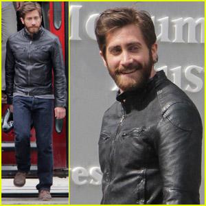 Jake Gyllenhaal: Biker Gear for 'An Enemy'