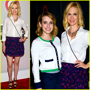 January Jones & Emma Roberts: Shops at Target Launch!