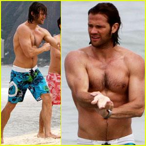 Jared Padalecki: Shirtless in Rio!