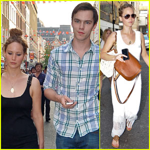 Jennifer Lawrence & Nicholas Hoult: London Lovebirds