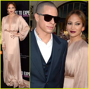 Jennifer Lopez: 'What to Expect' Premiere with Casper Smart!