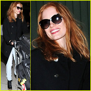 Jessica Chastain: LAX Lovely!