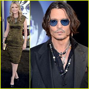 Johnny Depp Michelle Pfeiffer Dark Shadows Premiere
