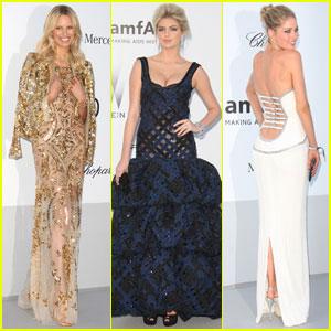Kate Upton & Karolina Kurkova - amfAR Cannes Gala 2012