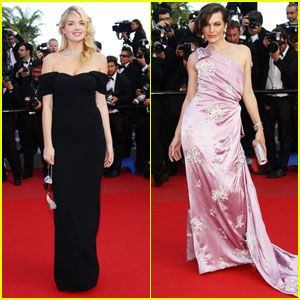 Kate Upton & Milla Jovovich: 'On the Road' Cannes Premiere!