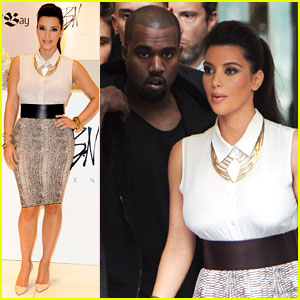 Kim Kardashian: Belle Noel Launch with Kanye West!