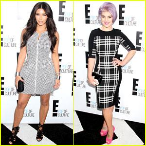 Kim Kardashian & Kelly Osbourne: E! Upfronts 2012
