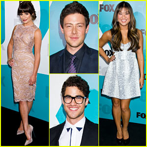 Lea Michele: Fox Upfront with the 'Glee' Cast!
