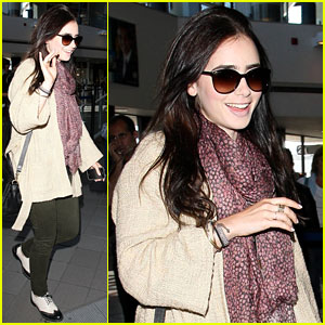 Lily Collins: Memorial Day Weekend Jet-Setter!