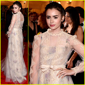 Lily Collins - Met Ball 2012