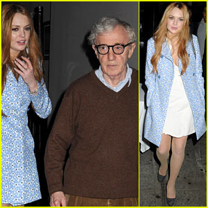 Lindsay Lohan: Phillippe Dinner with Woody Allen!