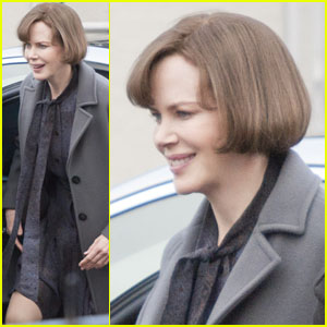 Nicole Kidman Goes Grey on 'Railway Man' Set