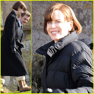 Nicole Kidman: Cemetery Scenes for 'Railway Man'!