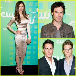 Ian Somerhalder &#038; Nina Dobrev: CW Upfront!