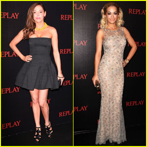 Rose McGowan & Rita Ora: Replay Party in Cannes!