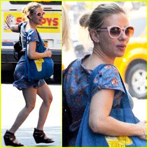 Scarlett Johansson Catches a Cab