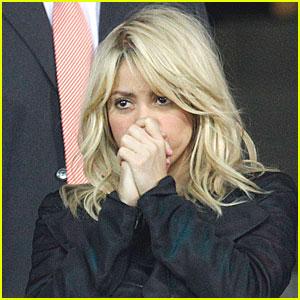 Shakira Cheers On Gerard Pique!