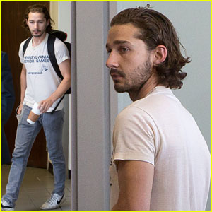 Shia Labeouf: 'Pennsylvania Senior Games' Tee at LAX