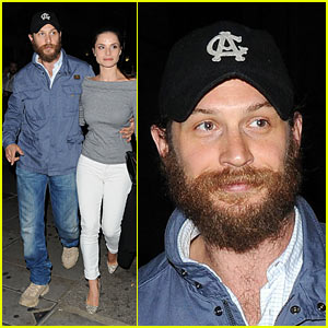 Tom Hardy: 'Prometheus' Afterparty with Charlotte Riley!