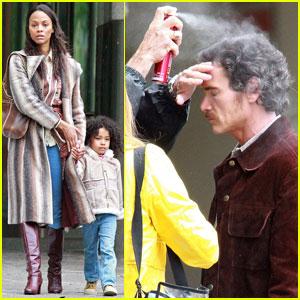 Zoe Saldana: 'Blood Ties' Set with Billy Crudup