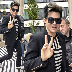 Adam Lambert Shows His Stripes