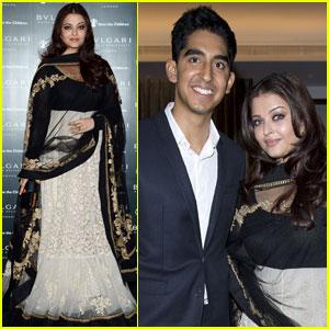 Aishwarya Rai & Dev Patel: Bulgari Hotel Opening!