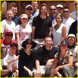 Brad Pitt & Angelina Jolie Meet Infantry Battalion in Egypt