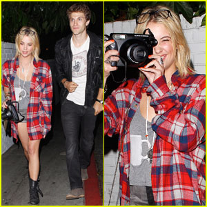 Ashley Benson: Chateau Night Out with Keegan Allen!