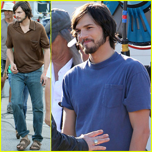 Ashton Kutcher: 'jObs' Set with Josh Gad!