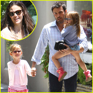 Ben Affleck: Lunch with Violet & Seraphina!