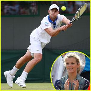 Brooklyn Decker Cheers on Andy Roddick at Wimbledon
