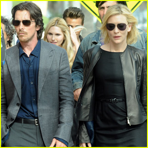 Christian Bale & Cate Blanchett: 'Knight of Cups' Set!