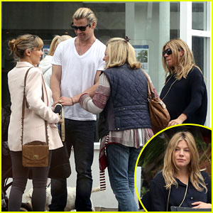 Chris Hemsworth Bumps Into Pregnant Sienna Miller