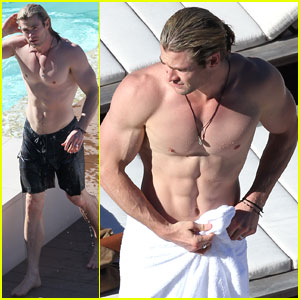 Chris Hemsworth: Shirtless in Sydney!