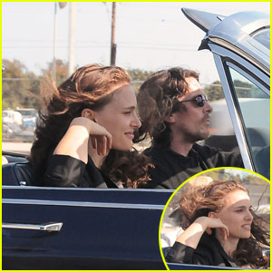Natalie Portman & Christian Bale: 'Knight of Cups' Convertible!