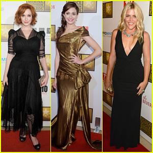 Christina Hendricks & Emmy Rossum: Critics' Choice TV Awards!