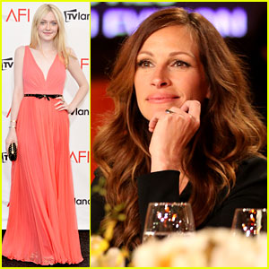 Dakota Fanning: AFI Awards with Julia Roberts!
