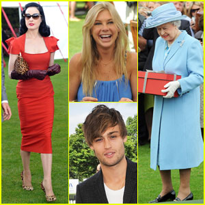 Dita Von Teese & Chelsy Davy: Queen's Cup Final!