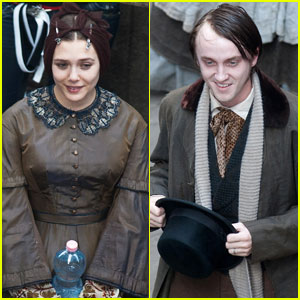 Elizabeth Olsen: 'Therese Raquin' Set with Tom Felton!