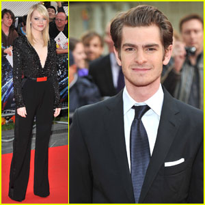 Emma Stone & Andrew Garfield: 'Spider-Man' in London!