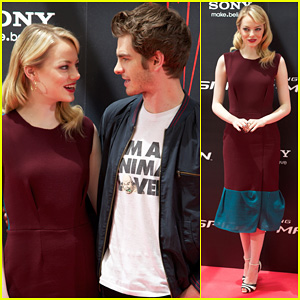 Emma Stone & Andrew Garfield: 'Spider-Man' Spain Photo Call!
