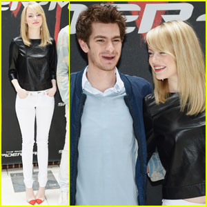 Emma Stone &#038; Andrew Garfield: 'Spider-Man' Photo Call