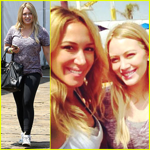 Hilary Duff: 'Pedal on the Pier' with Haylie!