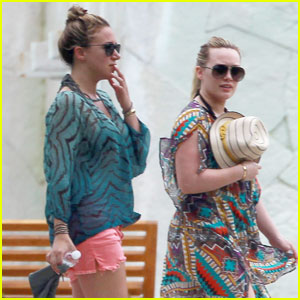 Hilary Duff: Mexico Getaway with Sis Haylie!