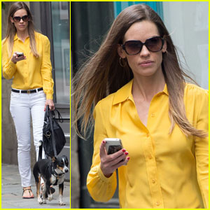 Hilary Swank: Mellow Yellow in Paris