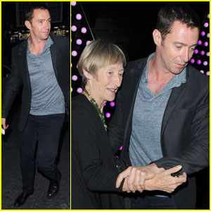 Hugh Jackman: W Hotel London with Mom Grace!