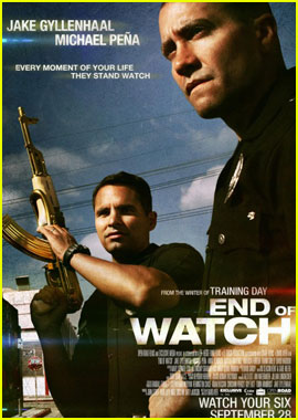 Jake Gyllenhaal: 'End of Watch' Poster with Michael Pena!